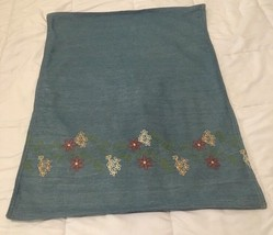Vtg Ralph Laruren Home Lake Embroidery Chambray  Washed Standard Pillow ... - $24.75