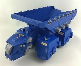 "Dinotrux Ton-Ton Blue Dump Truck Working Dump Bed Haul w Shovel Lg 20"" Mattel - $71.23"