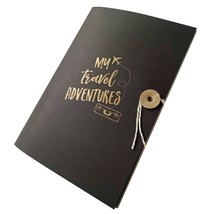 My Travel Adventures Journal Notebook Letterpress with Bakers Twine - $12.00