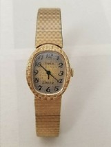Timex Womens 1970s Vintage Classic Electric Gold-Toned Watch Steel Dead Battery - $14.84