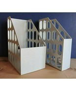 Plastic Magazine/File Organizers - Lot of 2 - Large = 6+ in - Small = 3 ... - $23.75