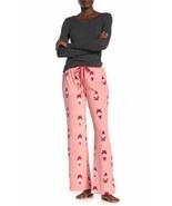 Free Press ,Microfleece Pajama Pants, PINK BRIDE SANTA GNOME,M - $18.80