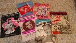 Lot of Six Vintage 1940 & 1950 Movie Sheet Music - $12.99