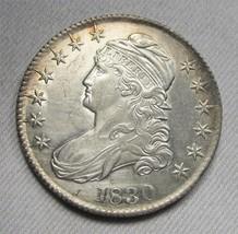 "1830 Large ""O"" Capped Bust Half Dollar CH AU Details AC678 - $256.32"