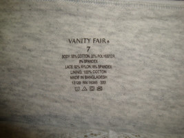 NWOT Vanity Fair Women's Beautifully Smooth Hi-Cut Panty #13129 Mist Heather 7 image 2