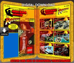 Custom Indiana Jones Raiders of the Lost Ark Digital Download Lego Card ... - $8.00