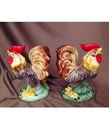 Vintage Roosters Salt & Pepper Shaker Set Mid-Century Made in Japan - $17.73
