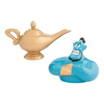 Walt Disney Aladdin Movie Abu and Lamp Ceramic Salt & Pepper Shakers Set... - $19.34