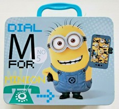 New Minions Movie Lunch Box Tin Universal Studios Despicable Me - $12.99