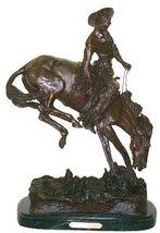 Outlaw American 100% Bronze Handmade Sculpture By Frederic Remington Regular Siz - $979.95