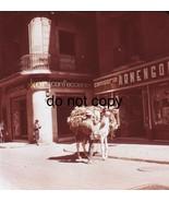 1966 Barcelona Street Vendor Scene Medium Format  Slide  - $19.79