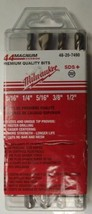 "Milwaukee 48-20-7490 5 Piece SDS Plus Rotary Hammer Bits 3/16"" - 1/2"" Ge... - $12.38"