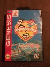 VTG Animaniacs (Sega Genesis, 1994) Rated GA Complete w/ Hang Tab Tested... - $21.97