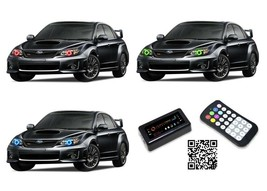 for Subaru Impreza 08-14 RGB Multi Color Bluetooth LED Halo kit for Head... - $135.43