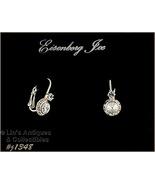 Eisenberg Ice Halo Style Earrings Clear Rhinestones Lever Back (#J1348) - $30.00