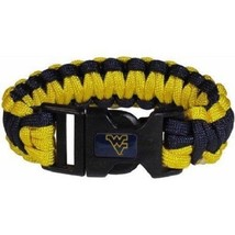 "NCAA West Virginia Mountaineers Survival Bracelet Paracord 9"" Outdoor Su... - $8.66"