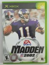 Madden Football 2002 Xbox Game 2002 EA Sports No Manual - $4.19