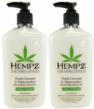 LOT 2 Hempz FRESH COCONUT WATERMELON Herbal Moisturizer Lotion - 17 OZ - $28.01