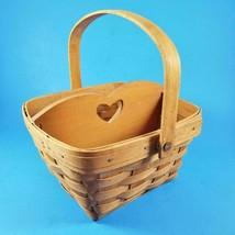"Longaberger Swing Handle Large Berry Basket w/ Divider 9""x8.5"" SAS 1992 ... - $39.99"