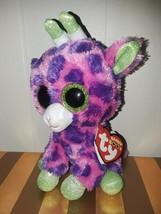 MWMT 6inch Ty Gilbert Giraffe Purple Glitter Eyes Beanie Boo Plush NWT N... - $9.99