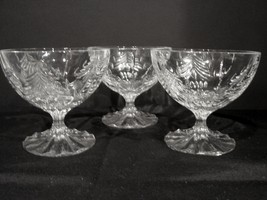 Three (3) Mikasa Christmas Tree Pattern 4 Inch Dessert Goblets - $14.90