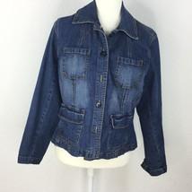 St. John's Bay Jacket Blue Women Size Petite Large - €25,77 EUR