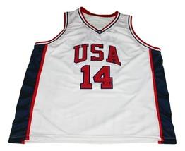 Gary Payton #14 Team USA New Men Basketball Jersey White Any Size image 4