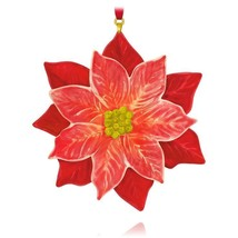 LA FLOR DE NOCHEBUENA CHRISTMAS FLOWER 2015 HALLMARK ORNAMENT POINSETTIA... - $11.00