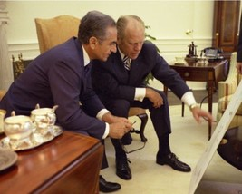 President Gerald Ford with Shah of Iran Mohammad Reza Pahlavi New 8x10 P... - $8.81