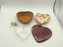 Longaberger 2005 Sweetest Heart Basket Red Lid Liner Divided Protector C... - $45.00