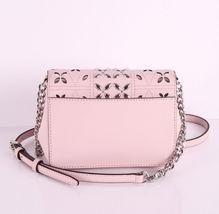 Michael Kors Tina womens small CLUTCH BAG crossbod stud floral Pink NWT  image 5