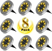 8 Pack Warm White Solar Power LED Lights Ground,Road Pathway Dock Path L... - $29.95