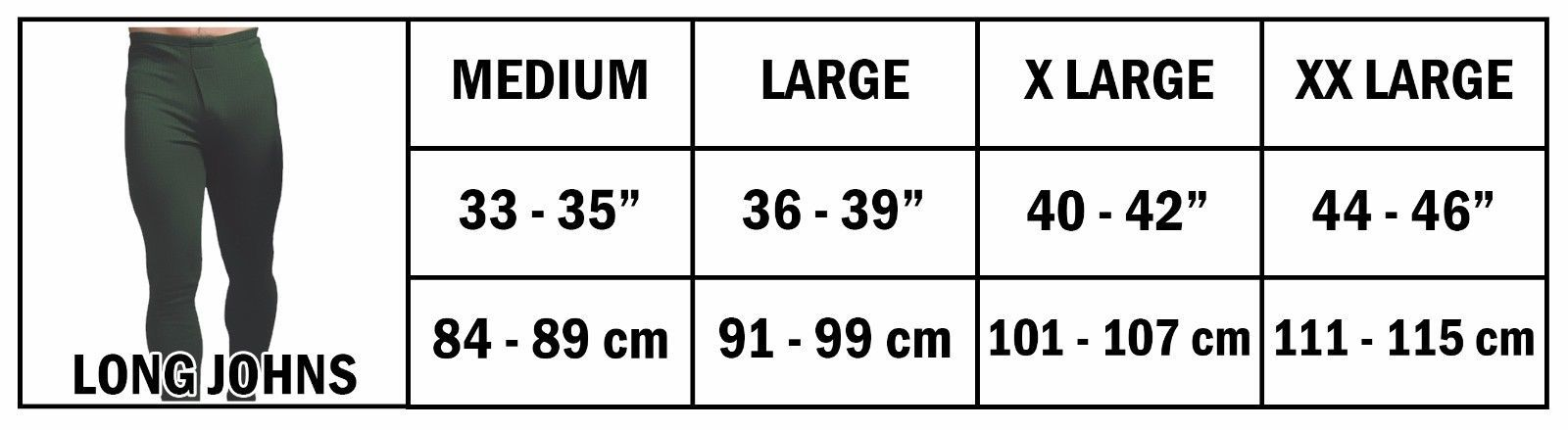 Forestman - Mens Thin Warm Ribbed Cotton Thermal Underwear Long Johns Bottoms