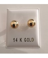14kt Solid Yellow Gold Polished 5mm Ball Bead Screw Back Stud Earrings - $24.95