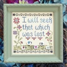 Seek The Lost cross stitch chart My Big Toe Designs - $8.00