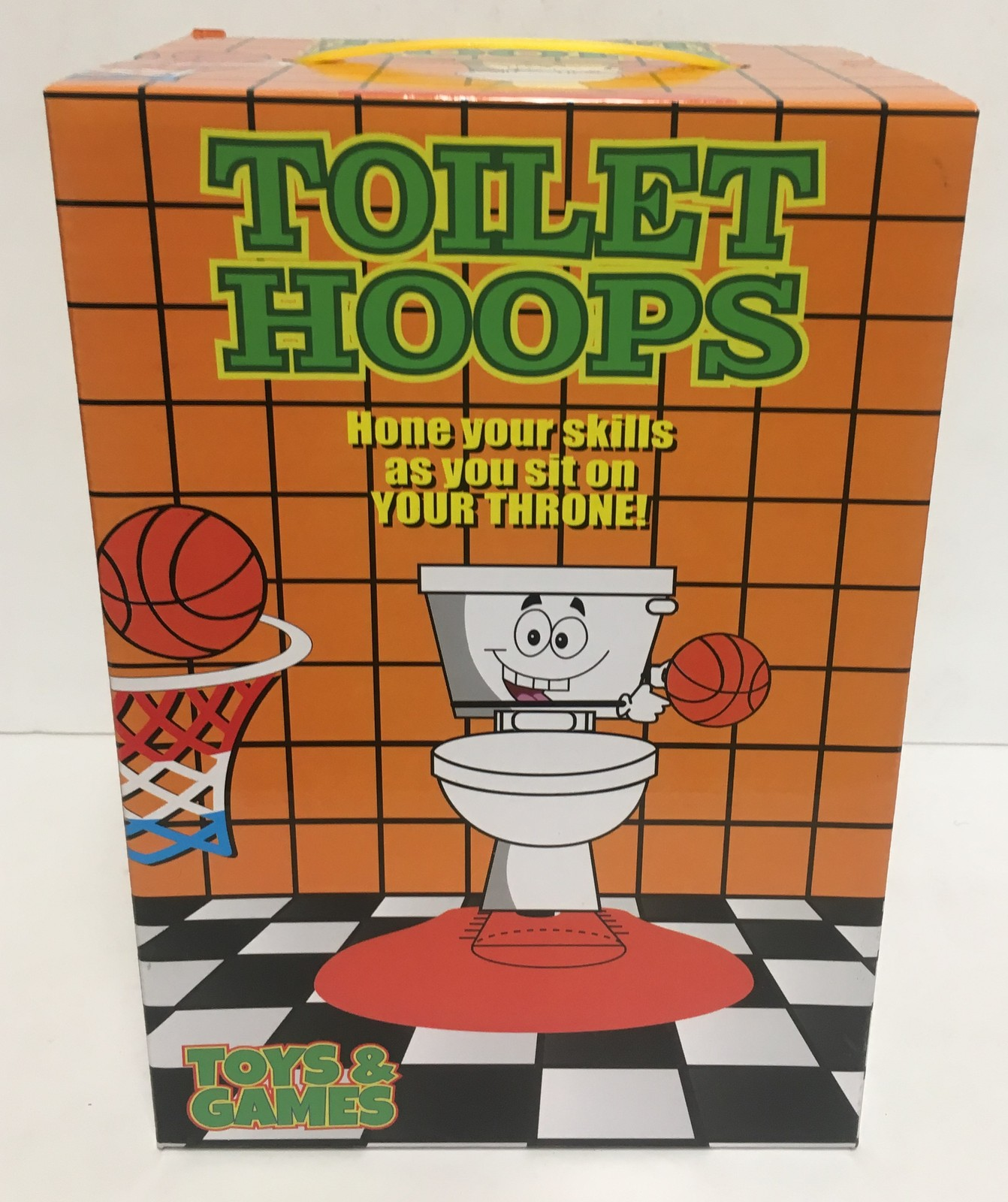 Toilet Hoops Basketball Pass Time Game Toy Gag Gift Ages 3+ image 2