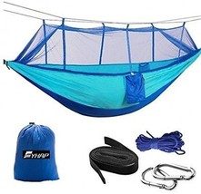 Hammock With Mosquito Net FYHAP Lightweight Nylon Portable Camping Hamm... - $64.02
