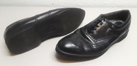 Mens size 12M Dexter black leather wingtip oxfords shoes 12 M USA - $12.86
