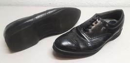 Mens size 12M Dexter black leather wingtip oxfords shoes 12 M USA - $12.86