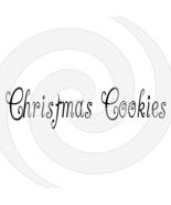Christmas Cookies Font 1smp-Digital ClipArt-Art Clip-Gift Tag-T shirt-Ho... - $2.50