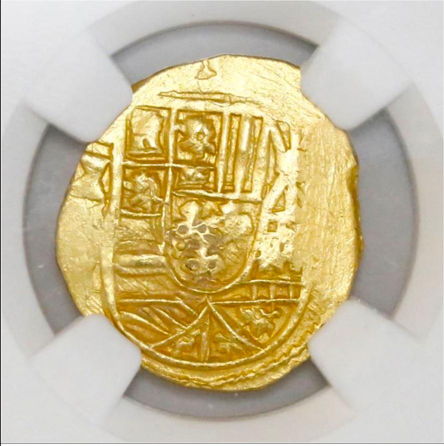 MEXICO 2 ESCUDOS 1711-13 NGC 63 PIRATE GOLD COINS SHIPWRECK TREASURE DOUBLOON CO