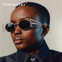 Luxury Rimless Fashion Steampunk Men Sunglasses Fashion Oval Designer Women Sun  image 3