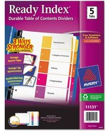 Avery 11131 Customizable Ready Index Table Of Contents Dividers 1-5 Tab,... - $15.19