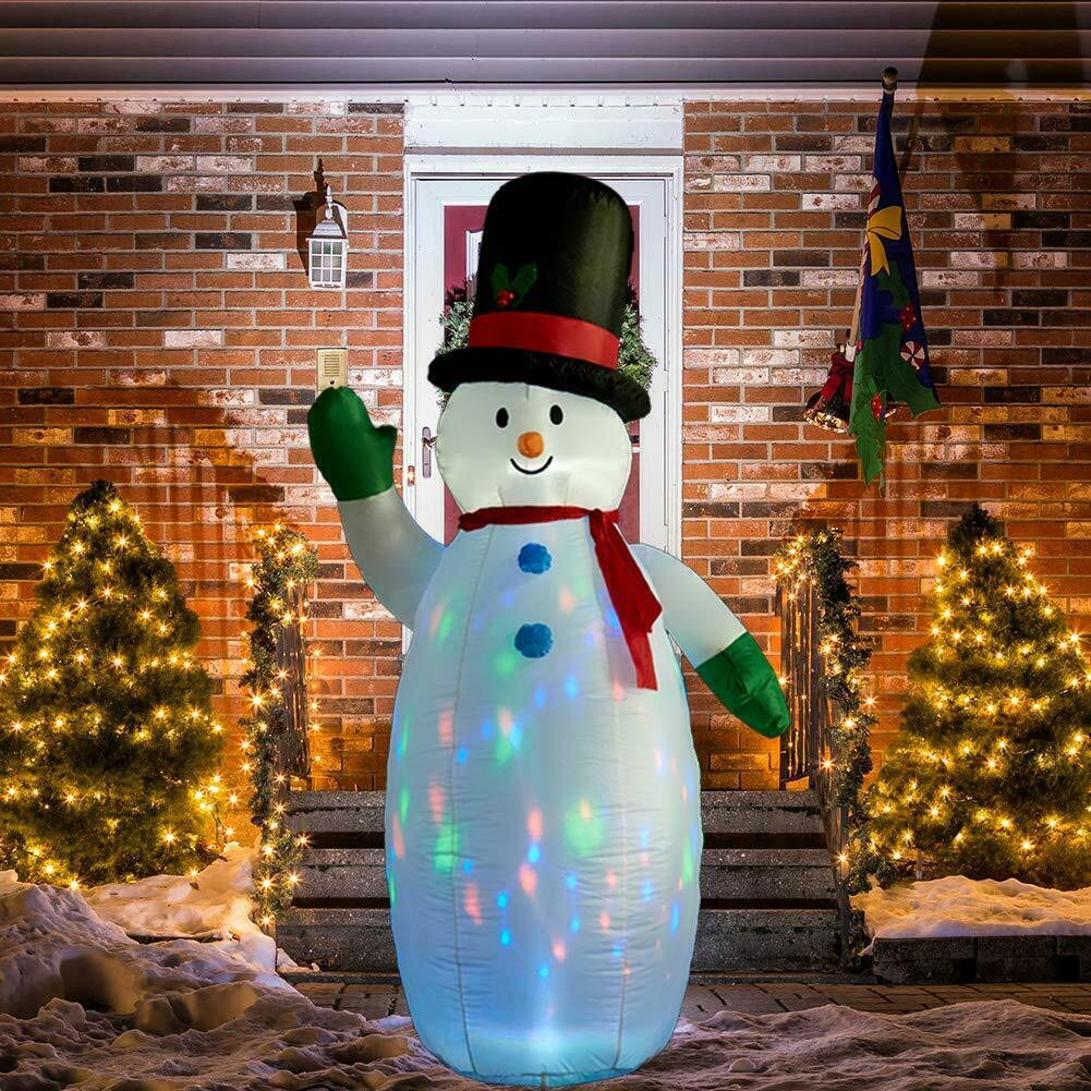 Primary image for NEW 8 ft. Tall Snowman Airblown Inflatable Christmas Flashing Lights Yard Decor