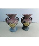 "Pair Of Hull Art Pottery WILDFLOWER Vase W-4-6 1/2""(Has some Chips) - $19.79"