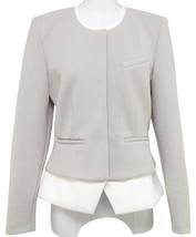 IRO CLYDE Jacket Coat Leather Beige Ivory Ecru Long Sleeve 42 - $237.50