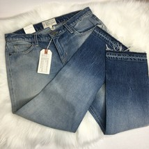 Current Elliott Womens Cropped Straight Jeans Size 28 Ombré Frayed Hem NWT - $88.11