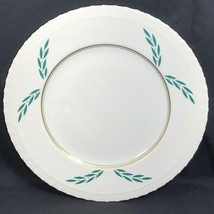 """1 Coronation Hanover China Dinner Plate 1950s 9 7/8"""" Dia Green Leaf Gold... - $14.84"""