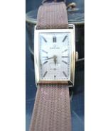 1930s Vintage Omega Gold Rectangular Dial Men's Wristwatch - $1,519.99