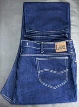 Lee Men's W52 L34 Regular Fit Straight Leg Dark Blue Stretch J EAN S Cotton Blend - $29.70